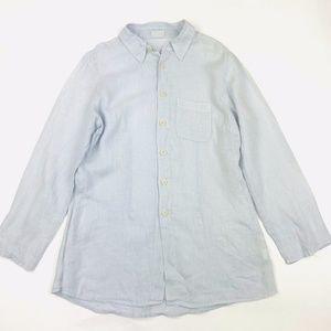 CP Shades Linen Button Down Shirt Top M